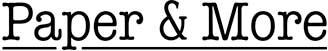 Paper & More Logo